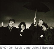[Photo, NYC 1991: Louis, Jane, John, and Barbara]